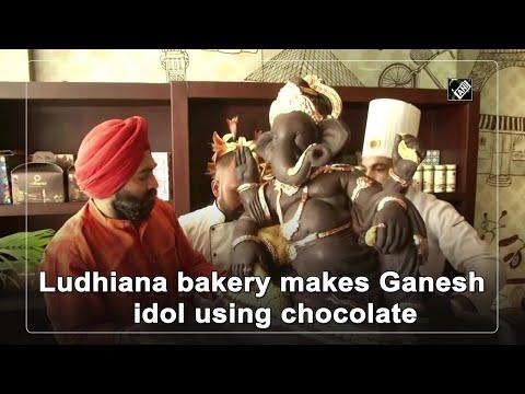 Bakery in Ludhiana makes Ganesh idol using 200 kg Belgian dark chocolate