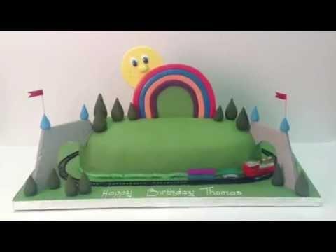 Rainbow Train Cake