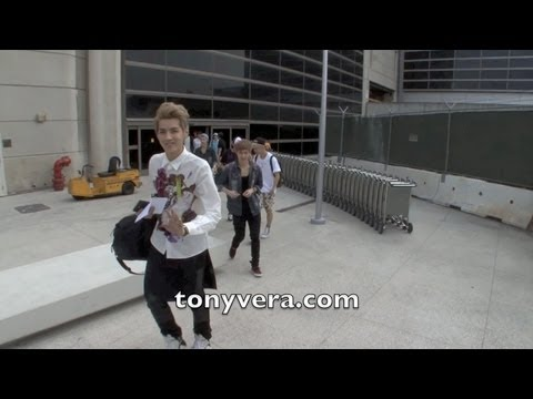 Exo (band) and all the fans who love them at LAX