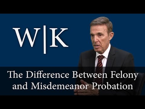 The Difference Between Felony and Misdemeanor Probation (PC 1203.3)