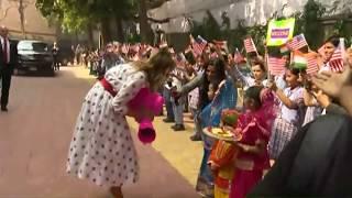 US First Lady Melania Trump visits Sarvodaya Vidyalaya..
