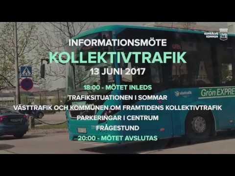 Informationsmöte om kollektivtrafiken och parkeringar