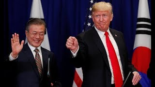 Trump and South Korea's Moon sound positive notes on North Korea progress