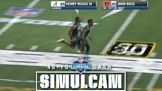 40-Yard Dash Simulcam: Ruggs vs. Ross | Herbert vs. DJ & Haskins & More!