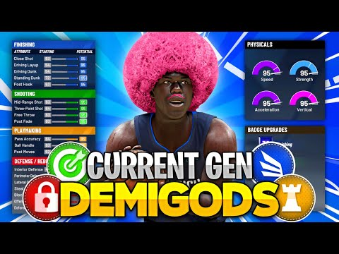 "THE BEST 6'7"" DEMIGOD BUILDS ON CURRENT GEN! BEST POWER FORWARD BUILDS ON NBA 2K21 CURRENT GEN!"
