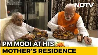 PM Modi Has Birthday Lunch With Mother, Seeks Her Blessing..