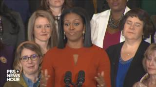 Watch first lady Michelle Obama's final White House speech