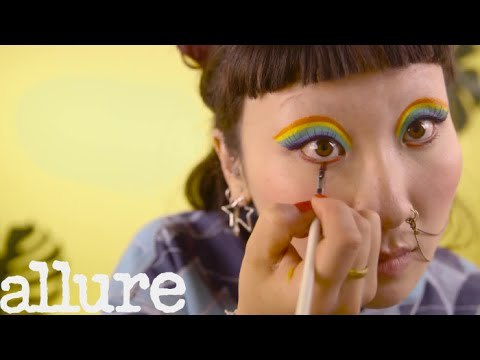 Get a Rainbow Cat-Eye Look In Under a Minute | Allure