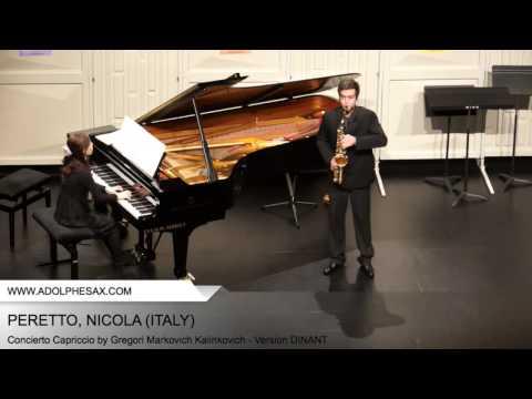 Dinant2014 PERETTO Nicola Concierto Capriccio by Gregori Markovich Kalinkovich Version DINANT