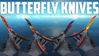 CS:GO - Butterfly Knives - All Skins Showcase + Price | Все Скины Butterfly knives + Цены