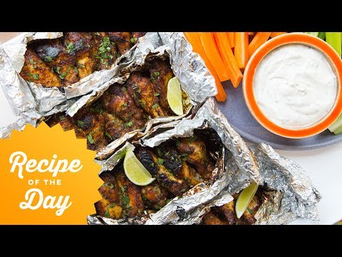 Recipe of the Day: Foil-Pack Grilled Chicken Wings | Food Network