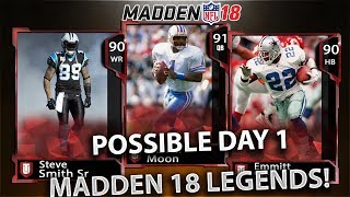 POSSIBLE MADDEN 18 DAY 1 LEGENDS! WARREN MOON ? STEVE SMITH SR ? Madden 18 Discussion