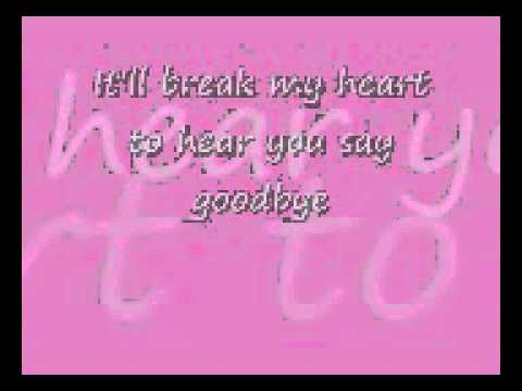 Celine Dion-Goodbye's the Saddest Word (LYRICS)