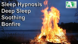 Deep Sleep Hypnosis with soothing bonfire and crickets as well as smooth downtempo chillout music.