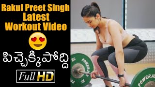 Tollywood actress Rakul Preet Singh workouts video goes vi..
