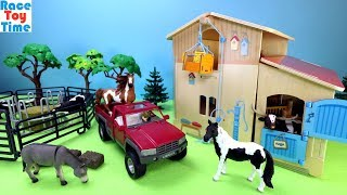 Toy Barn Playset with Fun Farm Animals Toys For Kids