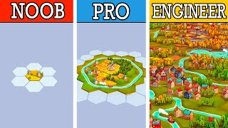 Engineering the GREATEST CITY in new building strategy puzzle game Dorfromantik!