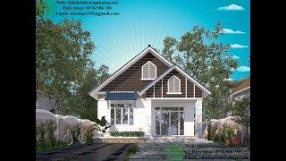 Mẫu thiết kế nhà cấp 4 mái thái, nhà cấp 4 ở nông thôn NDNC450
