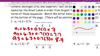 Sequence activity- Finding the next three terms