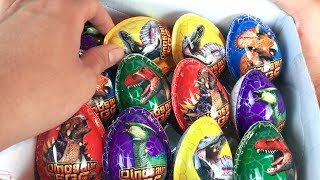 10 Dinosaur Surprise Eggs : BÓC TRỨNG KHỦNG LONG !!! FIDGET SPINNER Cars And Heavy Vehicles TOY
