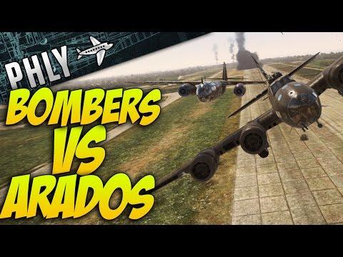War Thunder - Arados VS Bombers! Airfield MAYHEM!