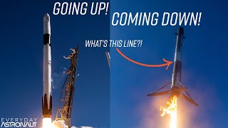 Why do SpaceX rockets take off white and come back black and white?