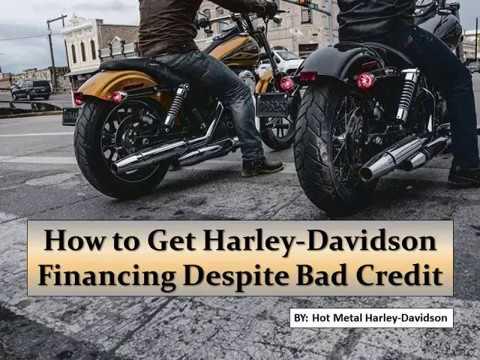 How to Get Harley-Davidson Financing Despite Bad Credit