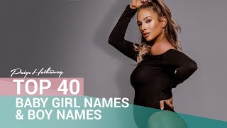 MY TOP 40 BABY GIRL AND BOY NAMES