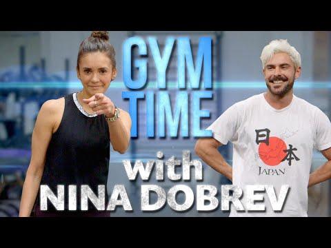 Nina Dobrev Crushes my Workout   Gym Time w/ Zac Efron