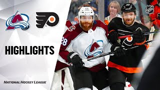 NHL Highlights | Avalanche @ Flyers 2/1/20