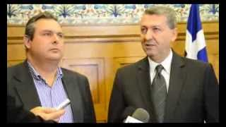 Δήλωση Πάνου Καμμένου - Γιώργου Λιλλήκα μετά τη συνάντησή τους