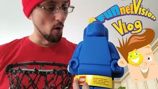GIANT STICKY GUMMY vs FACE! LEGO Gummies Recycling Melting Real Fun! (FUNnel Vision DIY Candy Vlog)