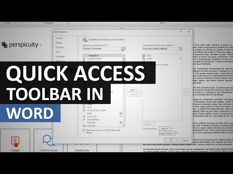 Adding Tools to the Quick Access Toolbar