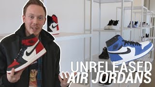 CHECKING OUT EARLY UNRELEASED AIR JORDANS AT A JORDAN EVENT!