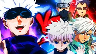 Gojo VS. Kakashi, Killua, Ban e Hitsugaya   Batalha de Mestres (Prod. Hollywood Legend)