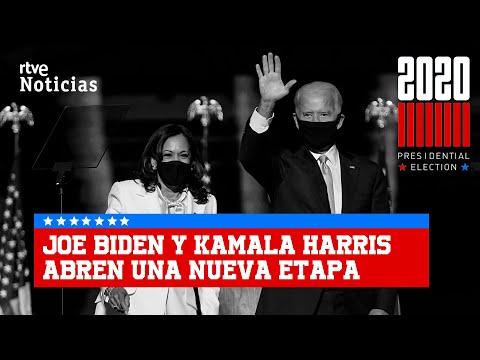 La NUEVA ETAPA de JOE BIDEN y KAMALA  HARRIS que promete UNIR a los ESTADOUNIDENSES I RTVE