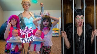 LOCKED UP again!! Elsa sends Maleficent to JAIL for waking up the BABIES!