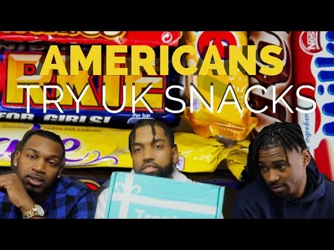 AMERICANS TRY UK SNACKS!!!
