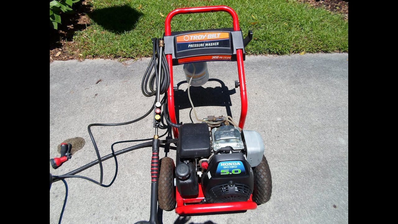Troy Bilt Honda Power Pressure Washer Gcv160 5 0hp Engine