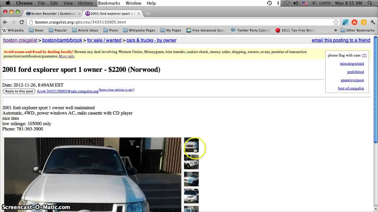 Craigslist Boston Used Cars, Appliances And Furniture For
