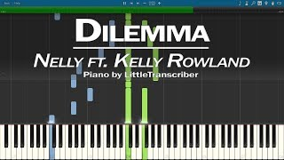 Nelly - Dilemma (Piano Cover) ft Kelly Rowland Synthesia Tutorial by LittleTranscriber