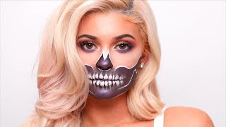 James Charles Does Skeleton Makeup for Kylie Jenner