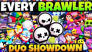 Playing ALL 39 BRAWLERS in DUO SHOWDOWN with Randoms... Can We Win EVERY Game?!
