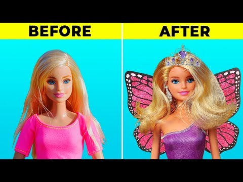 22 BRILLIANT DIYs TO MAKE YOUR BARBIE A PRINCESS