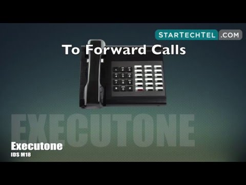How To Forward Calls On The Executone IDS M18 Phone