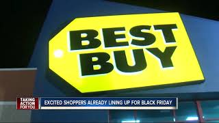Tampa Black Friday shopper saved spot in line at Best Buy on Monday