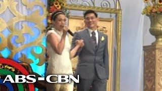 maya's surprise song at wedding reception