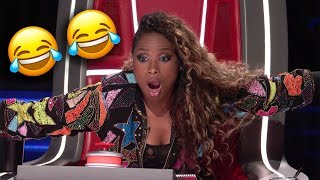 Top 10 Shocking Blind Auditions Moments on The Voice Season 15 (NBC's The Voice 2018) 🎶