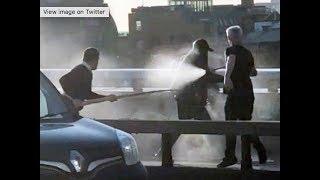 CAUGHT ON CAMERA: Whale tusk stops London Bridge attacker