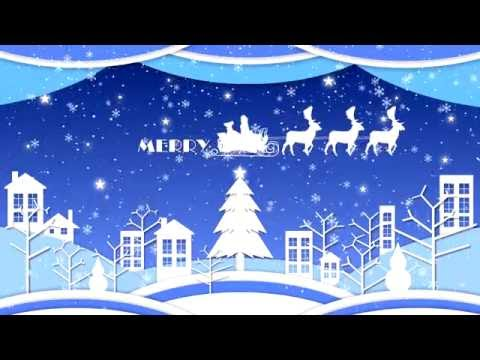 4K Merry Christmas Motion Graphic Animation Video Background.